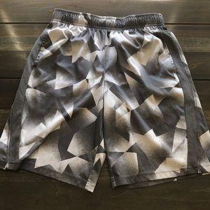 Boys Grey/White Athletic Shorts